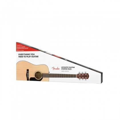 FENDER CD-60S Dreadnought Acoustic Guitar (Package) (Natural) (CD60S)