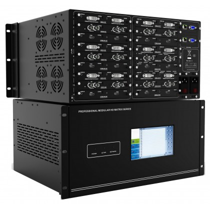 """AVTEC MTX-1818 Modular Hybrid Matrix System (16 In x 16 Out), with 7"""" Touch Screen Control (MTX1818)"""