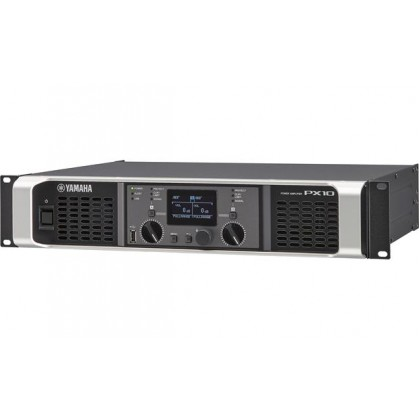 YAMAHA PX-10 1000W X 2 @ 8Ω Power Amplifier With Flexible Onboard PEQ, X-Over, Filters, Delay, Limiter Functions (PX10)