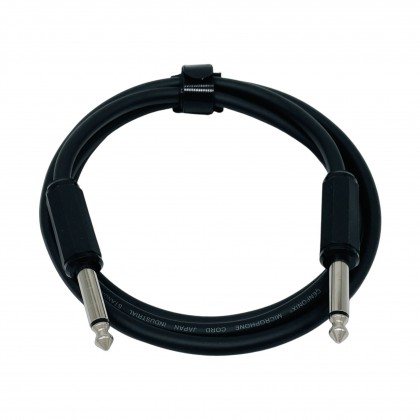 AVTEC 6.35mm Male to Male Guitar Cable 1 Meter (Mono Jack to Mono Jack)