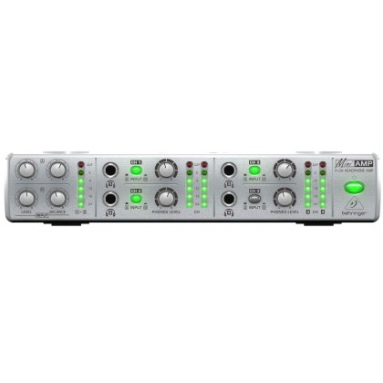 BEHRINGER AMP-800 Portable 4-Channel Headphone Amplifier with Input Level Control And Pan Control Per Channel (AMP800)