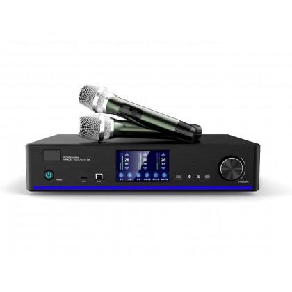 DYNAMAX CS-450 10'' Karaoke Speaker + AVTEC DKA-800 Karaoke Amplifier with 2x Wireless Microphone + Karaoke Machine 3TB