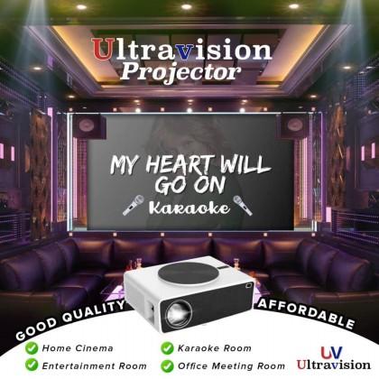 ULTRAVISION UV-70 Pro LED Projector 7200 Ansi Lumens; 1920 x 1080 XGA with WIFI & Bluetooth & Built in Youtube & Netflix (UV70 Pro)