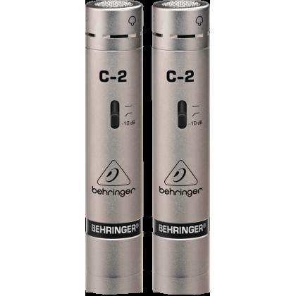 BEHRINGER C-2 2 Matched Studio Condenser Microphones (Pair) (C2)