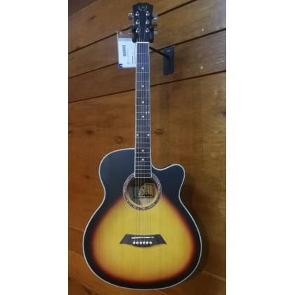 """A&K AK-220/230C 40"""" Cutaway Acoustic Guitar (Sunburst) (AK220/230C)"""