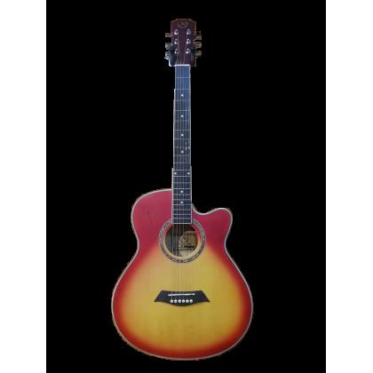 """A&K AK-220/230C 40"""" Cutaway Acoustic Guitar (Cherry Sunburst) (AK220/230C)"""