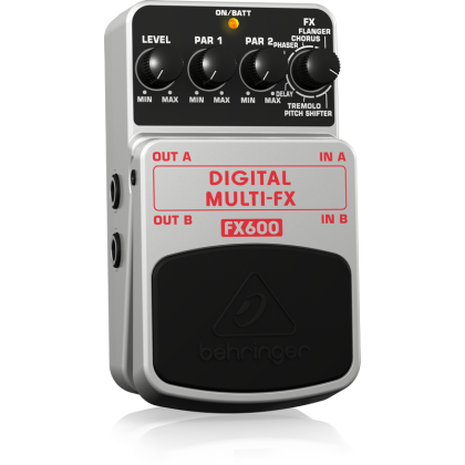BEHRINGER FX-600 Digital Stereo Multi-Effects Pedal (Guitar/Bass/Keyboard) (FX600)