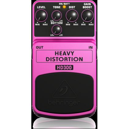 BEHRINGER HD-300 Heavy Distortion Effect Pedal (Guitar) (HD300)