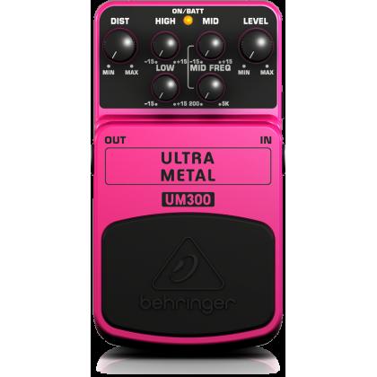 BEHRINGER UM-300 Heavy Metal Distortion Effects Pedal (Guitar) (UM300)