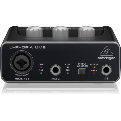 BEHRINGER UM-2 Audiophile 2x2 USB Audio Interface with XENYX Mic Preamp (UM2)