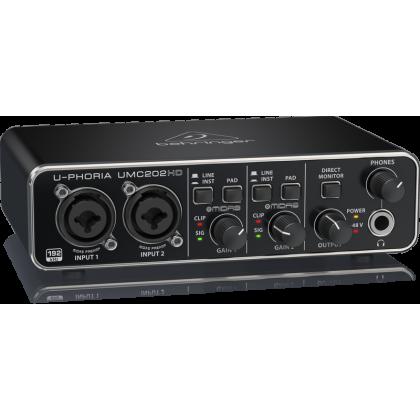 BEHRINGER UMC-202HD Audiophile 2x2, 24-Bit/192 kHz USB Audio Interface with Midas Mic Preamplifiers (UMC202HD)